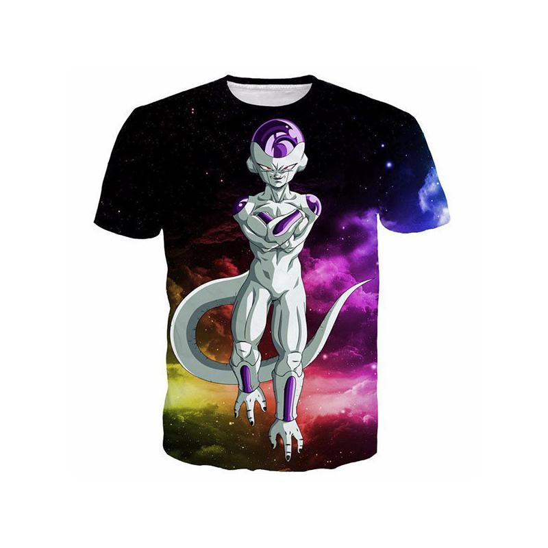 Mulheres / homens Dragon ball z camisa Frieza Vegeta Goku T Summer Fashion 3D Impresso cartoon Tee T200523
