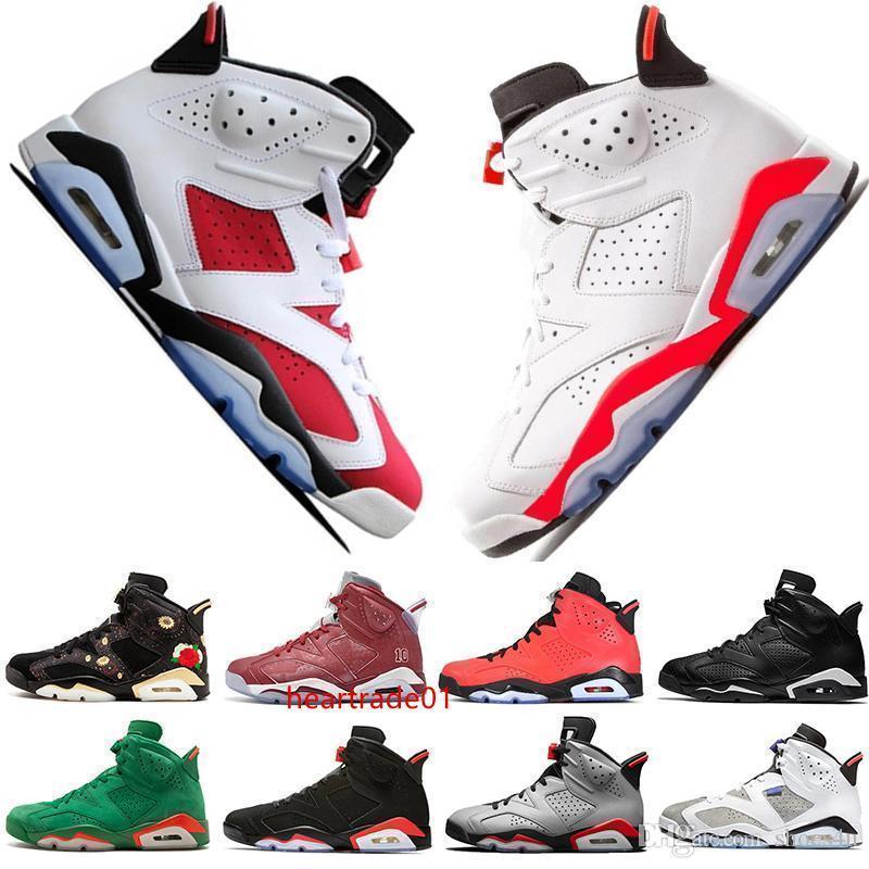 Stock 2019 In Bred VI 6 6s Mens Basketball Shoes Infrared 23 3M Reflective Tinker Slam Dunk UNC CNY Wheat Men Sport Sneaker Designer Trainer
