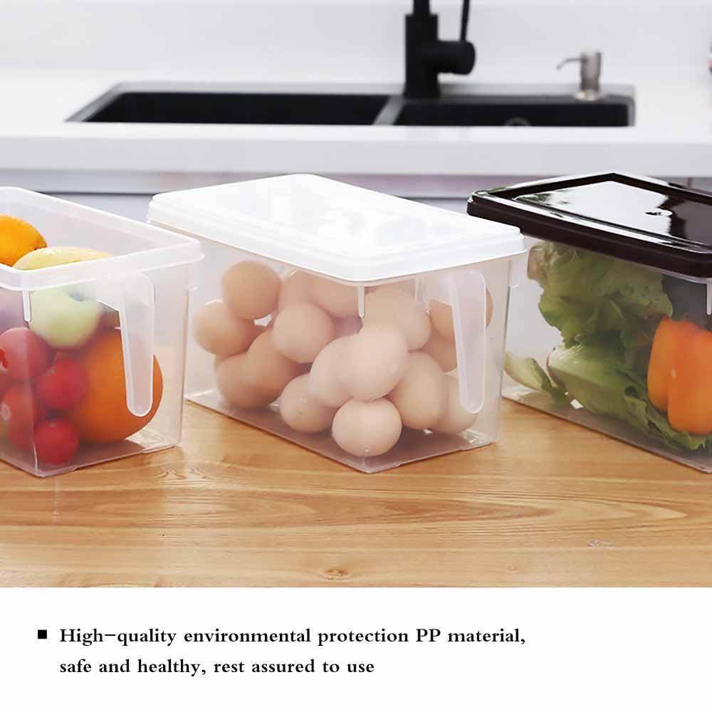 Almacenamiento de plástico Contenedores Nevera Caja de almacenamiento para Alimentos Contenedores para con tapa Cocina Nevera Congelador Gabinete Organizador de escritorio