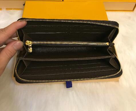 2019 Hot venda e da moda senhoras único zíper baratos mulheres do desenhador carteira pu senhoras carteira senhora longo bolsa 358