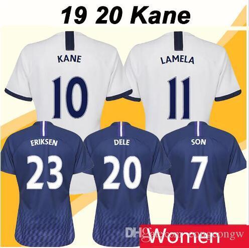 19 20 KANE LAMELA Kadınlar Futbol Forma DELE ERIKAEN VENTONGHEN Deplasman Futbol Gömlek Sissoko LLORENTE Kısa Kollu Formalar Üniformalar S-XL
