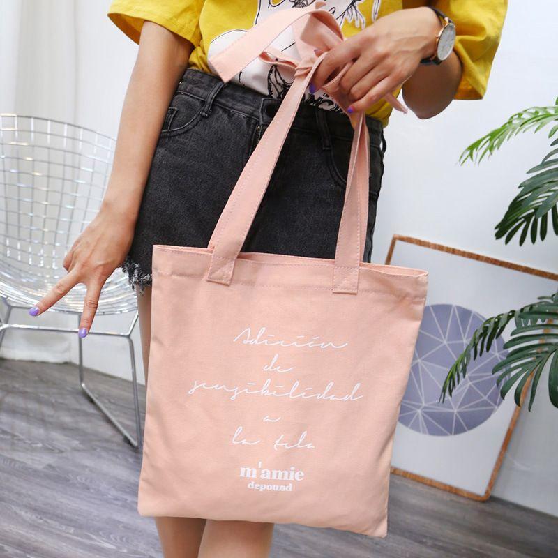 Corea acquisto nuova polvere chic depound ragazze coreane papillon lettere fai da te di tela borsa donna