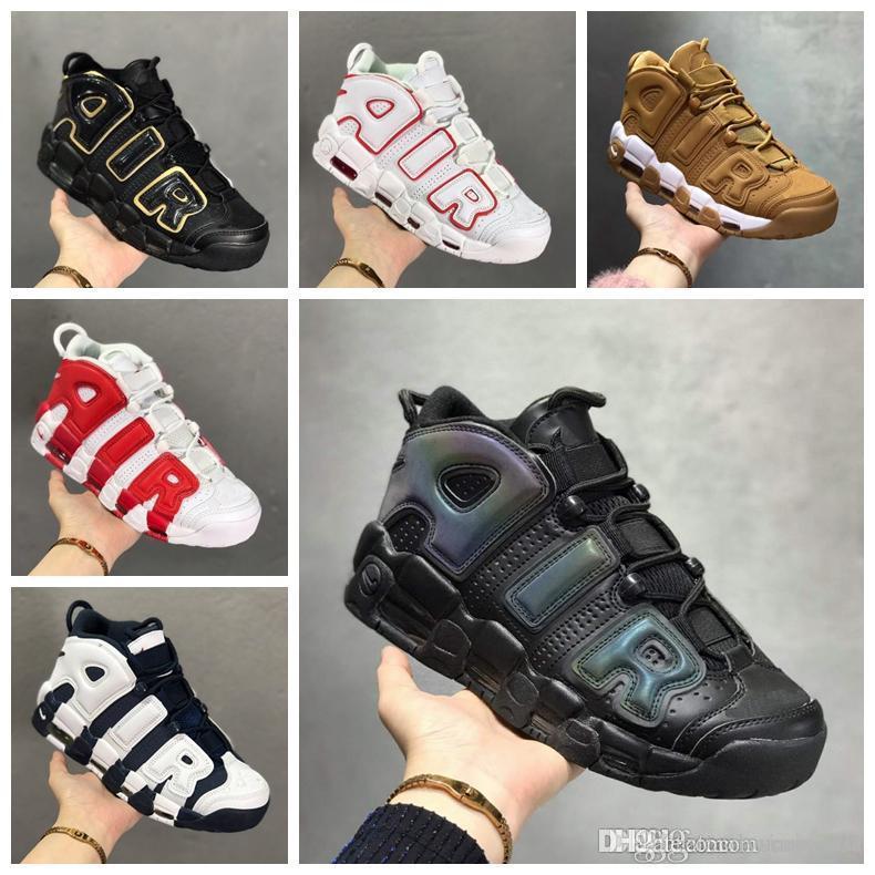 2019 Nuovo 96 QS Olympic Varsity Marrone più Mens Basketball Shoes 3M Scottie Pippen Air Uptempo Chicago Sneaker sportivo Sneakers Taglia 5.5-12