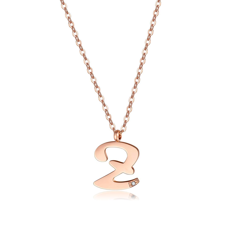Wholesale- Luxus-Designer-Roségold Titan Diamant Zirkon Buchstaben Kurzhalsband Halskette für Frauen Männer