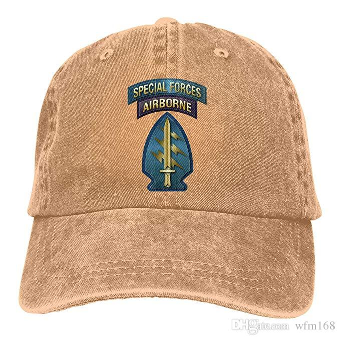 2019 New Cheap Baseball Caps US AIR Force Special Forces Airborne Mens Cotton Adjustable Washed Twill Baseball Cap Hat
