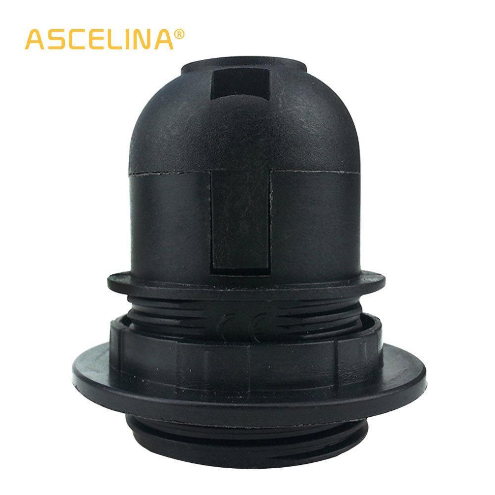 10PCS / LOT E27 مصباح حامل الأسود خمر قاعدة بقيادة تركيب المقبس اكسسوارات مصباح الثريا قاعدة المقبس