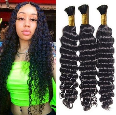 Human Hair Mix en vrac Longueur 3pcs beaucoup 16inch à 28inch gros cheveux bouclés pas pour Trame pleine tête DHL LIVRAISON GRATUITE