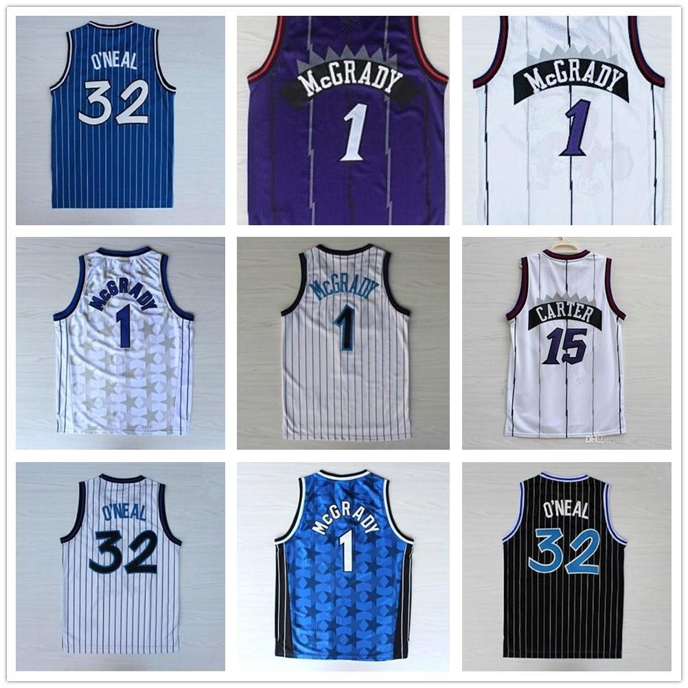 De alta calidad 32 O'Neal Jersey Penny Carter 15 camisas jerseys Tracy McGrady 1 cosido jerseys universitarios para hombre Vince 1 Hardaway camiseta de baloncesto