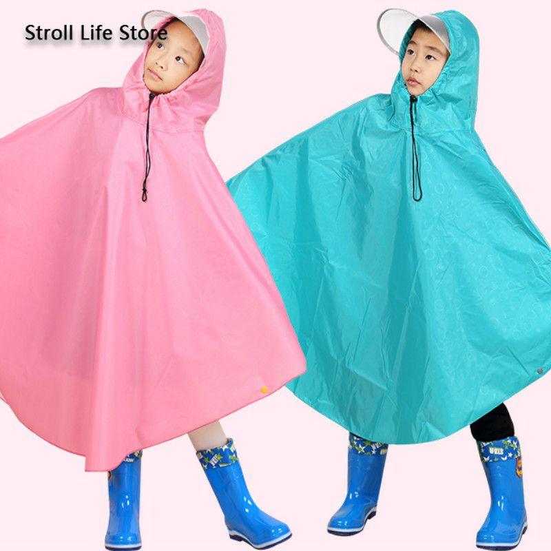 Pink Long Raincoat Kids Rain Poncho Bicycle Electric Yellow Girls Long Rain Coat Suit Waterproof Coat Jacket Capa De Chuva Gift