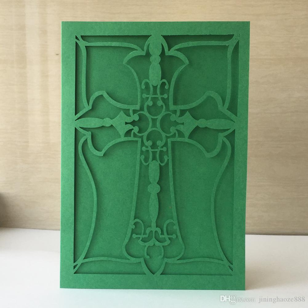 Compre 30 Unids Lote Minimalismo Tarjeta De Invitaciones De Boda Exquisita Cruz Escultura Cultura Tarjeta De Regalos De Acción De Gracias Fiesta De