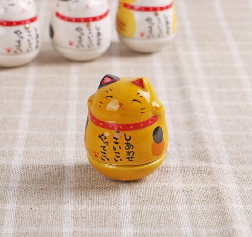 Chat en céramique cadeau créatif japonais créatif ornements gobelet chat chanceux