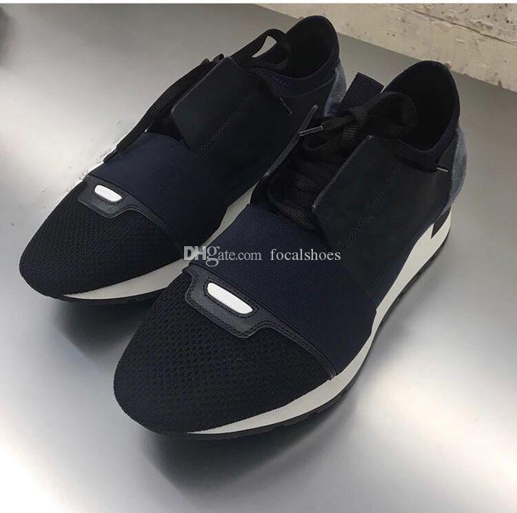 Designer Shoes Race Runners Chaussette Chaussures Noir Knit Hommes Femmes Chaussures Luxe Casual Chaussures plates Vintage Hommes Chaussures New Sneakers Fashion Star