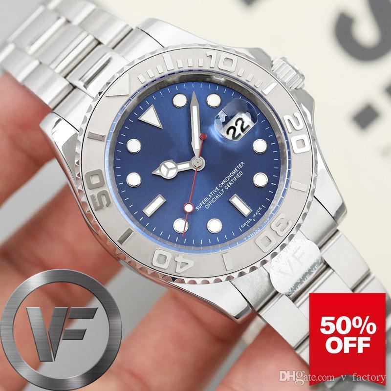 VF Sapphire Glide Bloqueio Mens Watch 2813 Relógios de pulso Pulseira Movimento automático Homens Moda Mecânica Designer Mestre Relógios de luxo