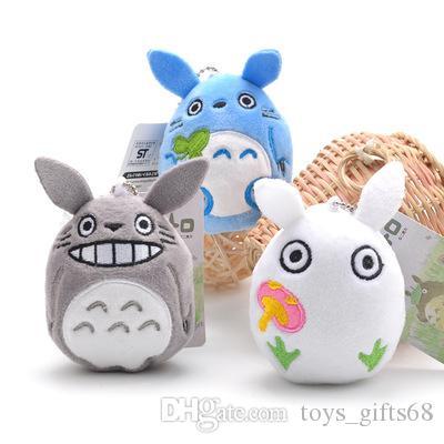 9CM Cartoon Totoro peluche ciondolo farcito morbido anime Totoro portachiavi ciondolo borsa bambini giocattoli di Natale bambola regalo di compleanno