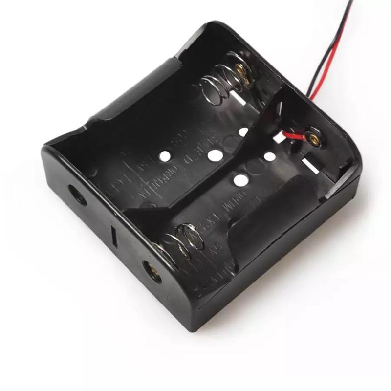 Titular PP Fio chumbo bateria Bronze Nickel Bateria Caso Box sem tampa para 2 x D Baterias Tamanho 3V