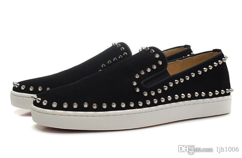 [Caja original] Hi-Q Zapatos de mujer para hombre Zapatos de boda de fiesta de lujo con fondo rojo, zapatos de tacón bajo Zapatos ocasionales de cuero genuino, sólidos,