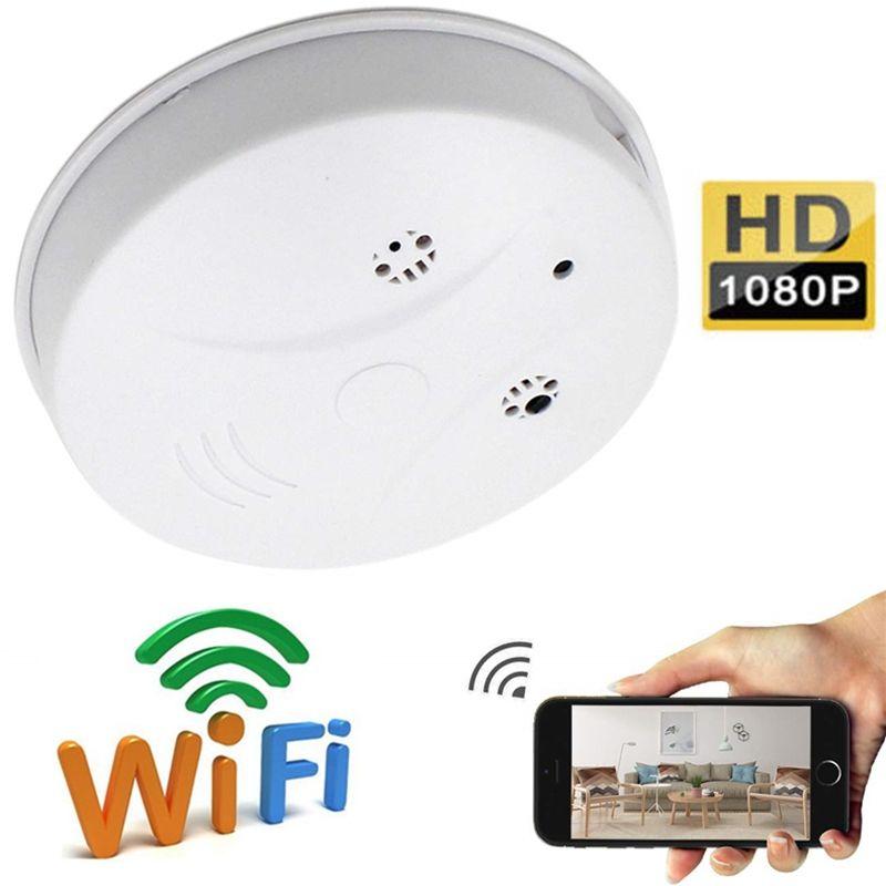 WiFi Smoke Detector P2P IP camera HD 1080p smoke detector mini camera Audio Video Recorder home security monitor camera Support TF card