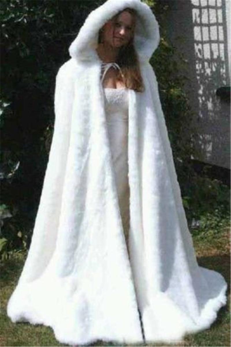 20 New Winter White Lvory Wedding Faux Fur Cape Shawl Bridal ...