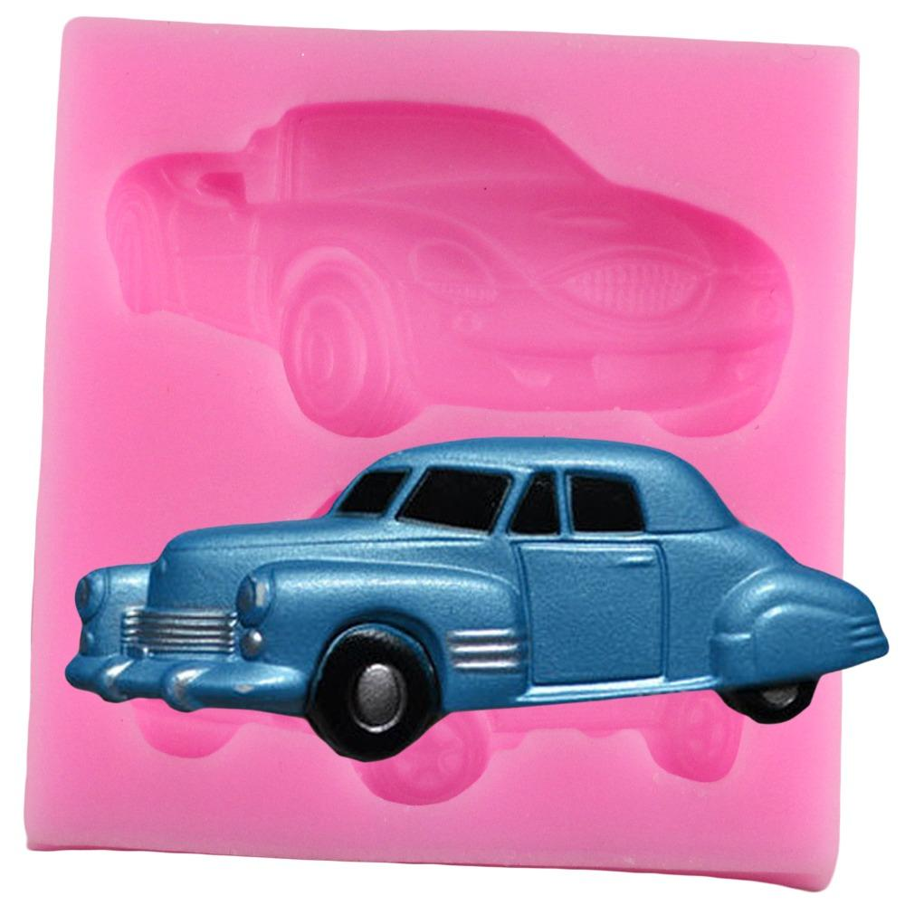 3D Car Silicone Fondant Mold Baby Toy Party Cake Decorating Tools Chocolate Candy Mould Kitchen Baking Tools