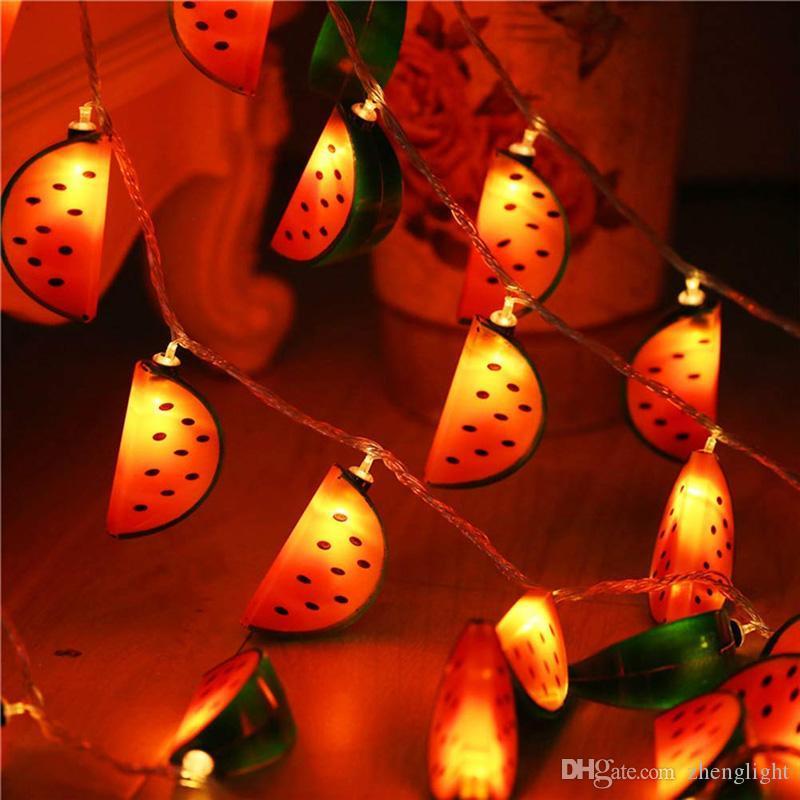 BRELONG 10 LED свет шнур батарейки арбуз образного сказочный мигающие огни, рождественские огни Теплой белые 1 шт