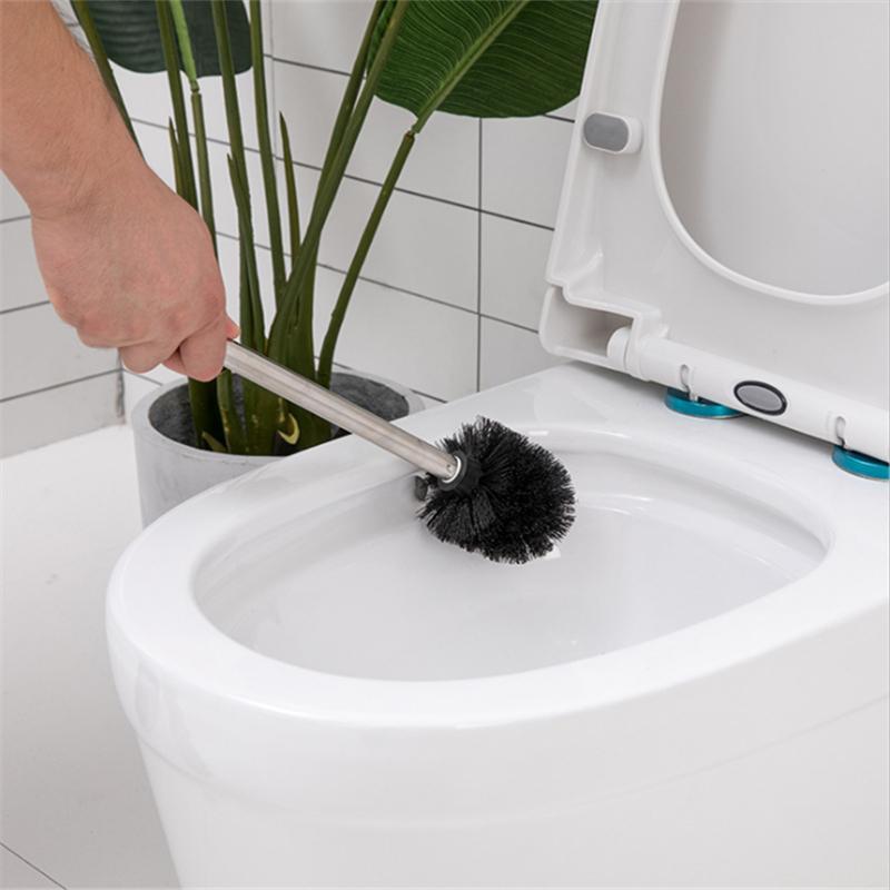 Yeni plastik paslanmaz çelik tuvalet fırça temizleme fırçası fırça kafası değiştirilebilir süper leke çıkarma banyo temizlik malzemeleri