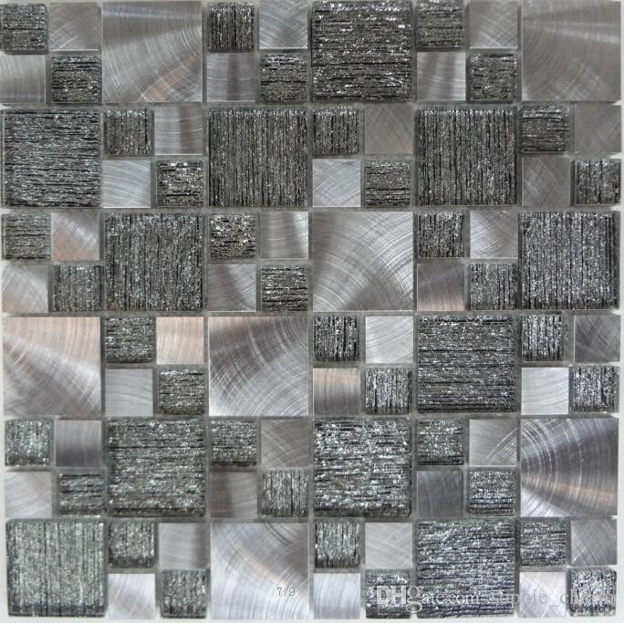 Acquista Cristallo Mix Vetro Metallo Alluminio Acciaio Inossidabile Mosaico Cucina Bagno Piastrelle Backsplas Vetro Metallico Mosaico Bagno Mattonelle Della Parete A 14 16 Dal Sophie Charm Dhgate Com
