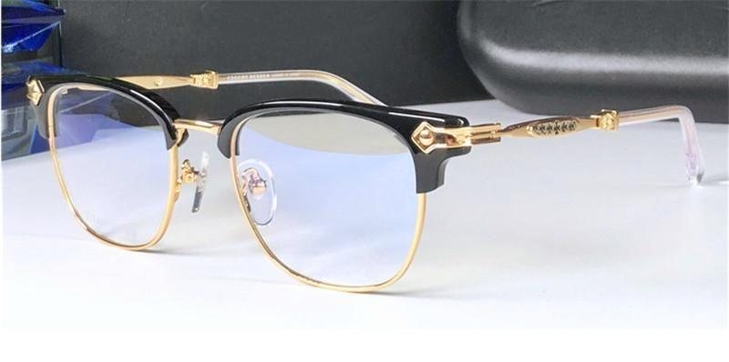 Novos Óculos Eyewear CHROM-H Vidros Verhaul Homens Quadrado Metade Do Design pode fazer óculos de prescrição Vintage Steampunk Style