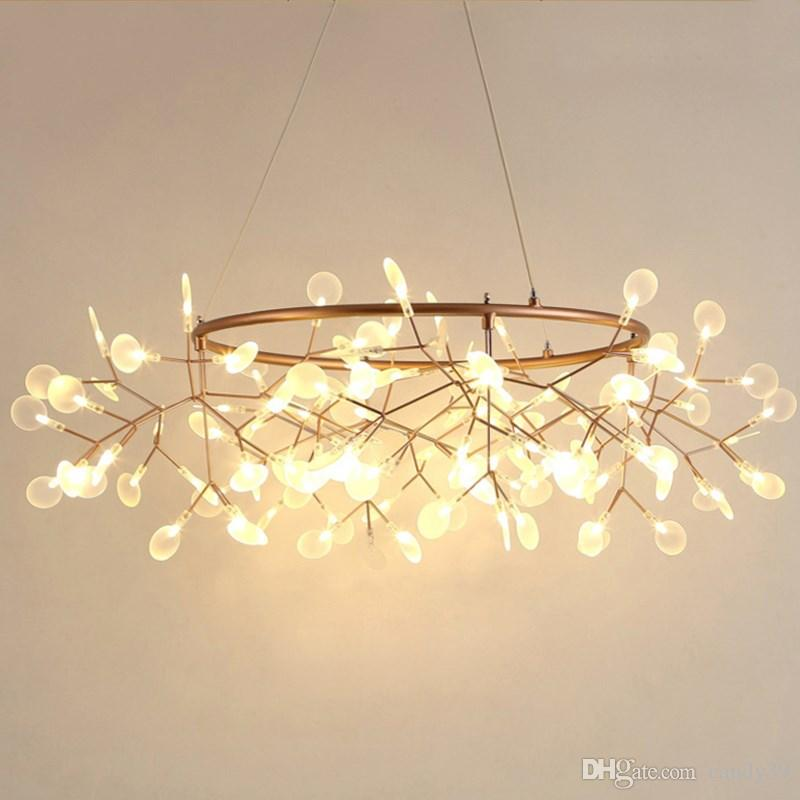 Suspension Bar Al127b Lantern Lights Lamp Firefly Round Flower Lamps Leaf Light Modern Lighting Pendant Led Art Home Restaurant Tree Branch LGzqMpVSU