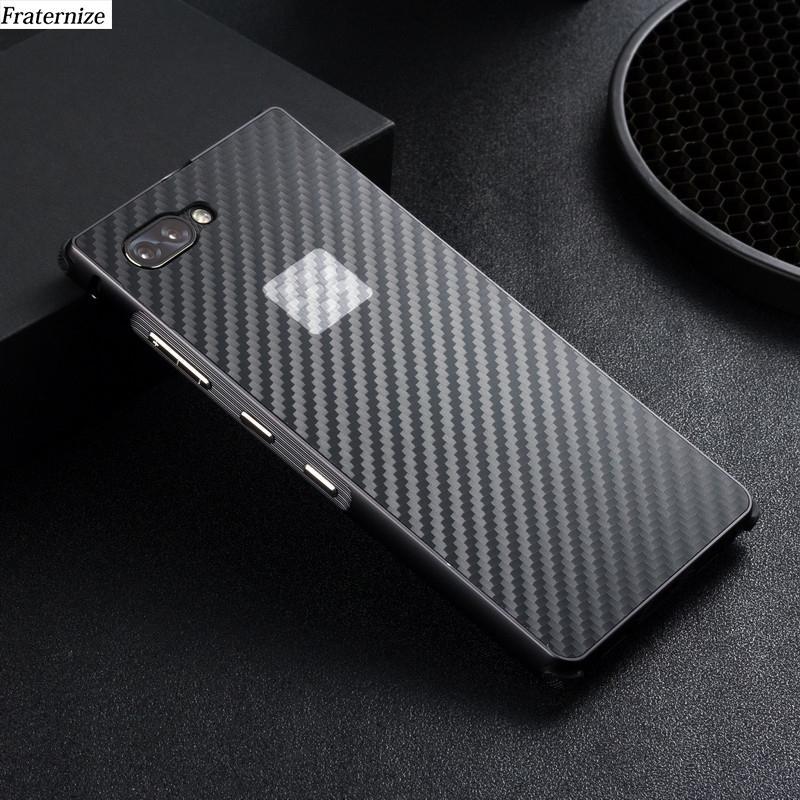 Metal Case Key2 alluminio per Blackberry Key 2 Metal paraurti Frame + antiurto in fibra di carbonio di plastica del telefono copertura posteriore della cassa Coque
