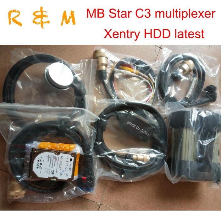 Лучшее качество для MB Star C3 Полного комплект Авто диагностического инструмента для автомобилей Trucks Мультиплексор V2020.06 Xentry DAS WIS EPC HDD Программного обеспечения