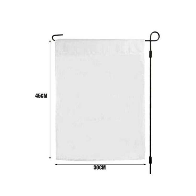 Blank Sublimation Jardin Drapeau 12x18inches 30x45cm drapeaux d'impression polyester sans triage Livraison gratuite pôle