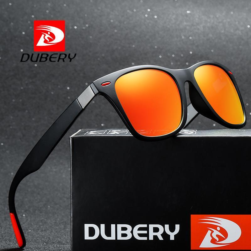 DUBERY Hommes polarisants Driving Lunettes de soleil femmes Designer Sports de plein air Finition Lunettes de soleil Miroir carré UV400
