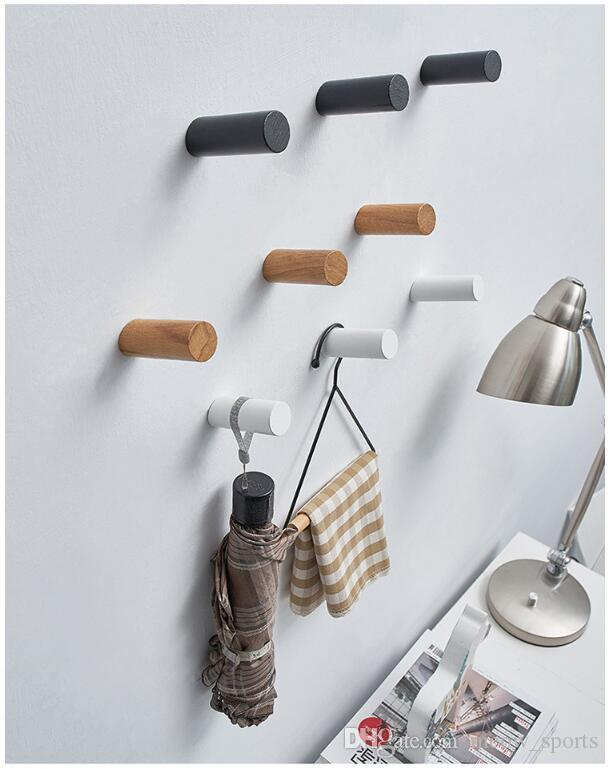 Home wall hook Simple modern wooden key hooks Nordic clothing store Practical wall decoration Pendants Storage