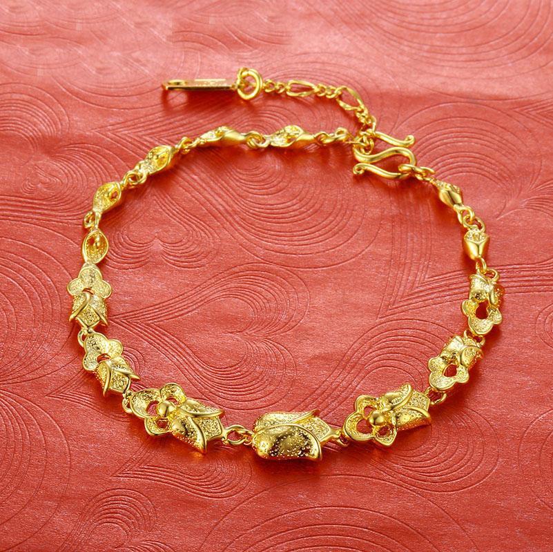 Coper joyería de la aleación de oro Plataed sistema de la pulsera pendientes del collar Conjunto de 3 piezas de Declaración de compromiso de la boda las mujeres del traje de fiesta de cumpleaños Par