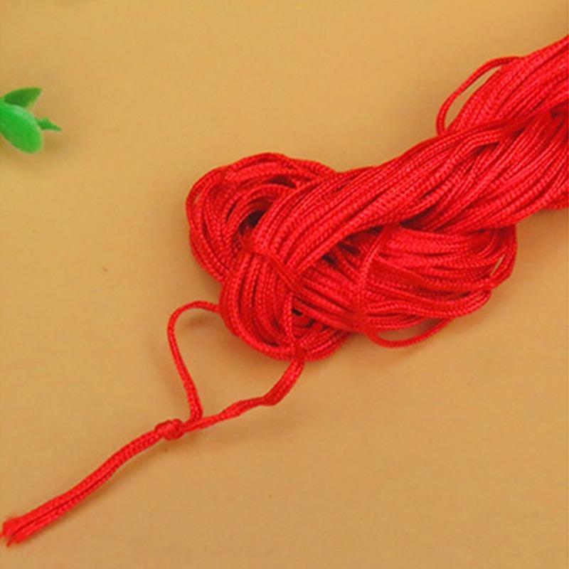 27meters 1mm ROJO algodón encerado encerado hilo Cable Correa Hilo Collar cuerda cordón de DIY que hace la joyería para la pulsera de Shamballa