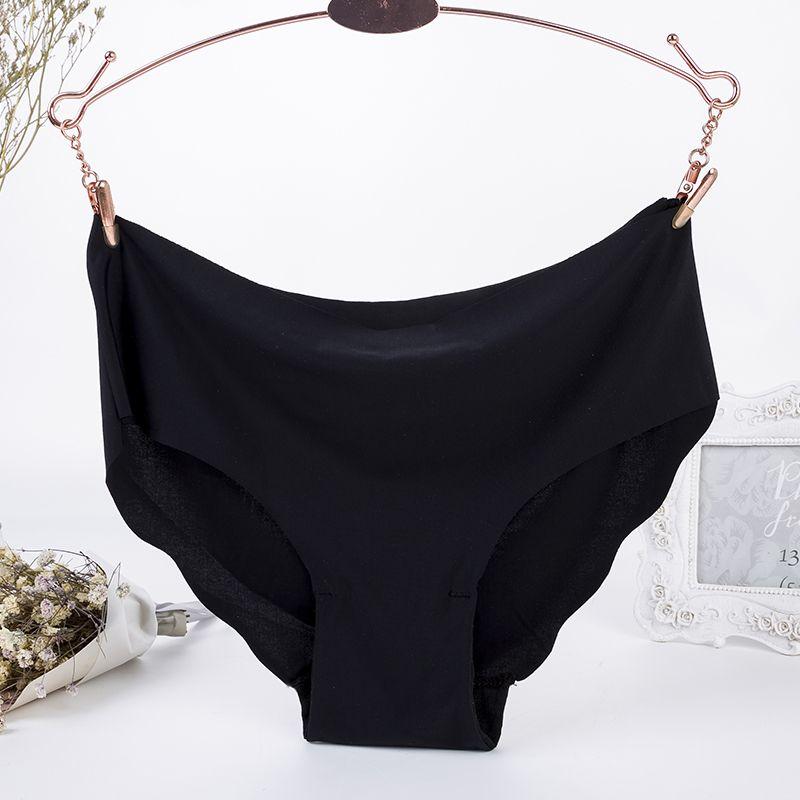 Sexy Seamless Panty Set Sous-vêtements Femme Confort Intimates Mode Femme Ultra-mince Parage Volants doux Slip taille basse