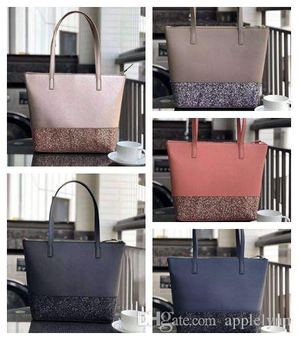 5 Cores Nova Glitter Grande Marca Designer Mulheres Bolsas De Ombro Bolsas Moda Bolsas Totes