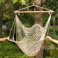 Outdoor Indoor Garden Dormitory Bedroom Hanging Swing Cotton Hammock Chair Solid Rope Yard Patio Porch Garden Free Shipping