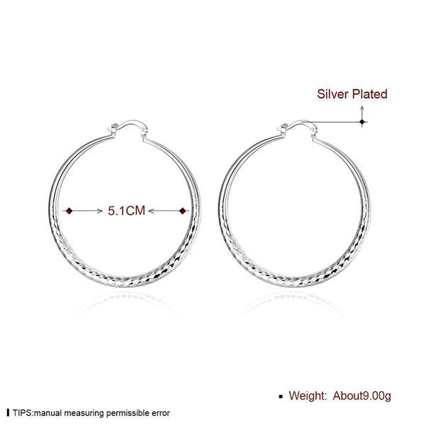 el envío libre de la placa redonda de plata de ley de corte de diamante mujeres del pendiente del ajuste, de la boda plateó 925 encantos de plata pendientes de EE291
