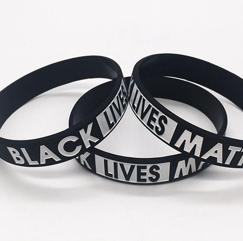Matière noire vie Bracelet caoutchouc de silicone Wristband Bracelet Sport Bracelet pour hommes, femmes cadeau LJJK2184