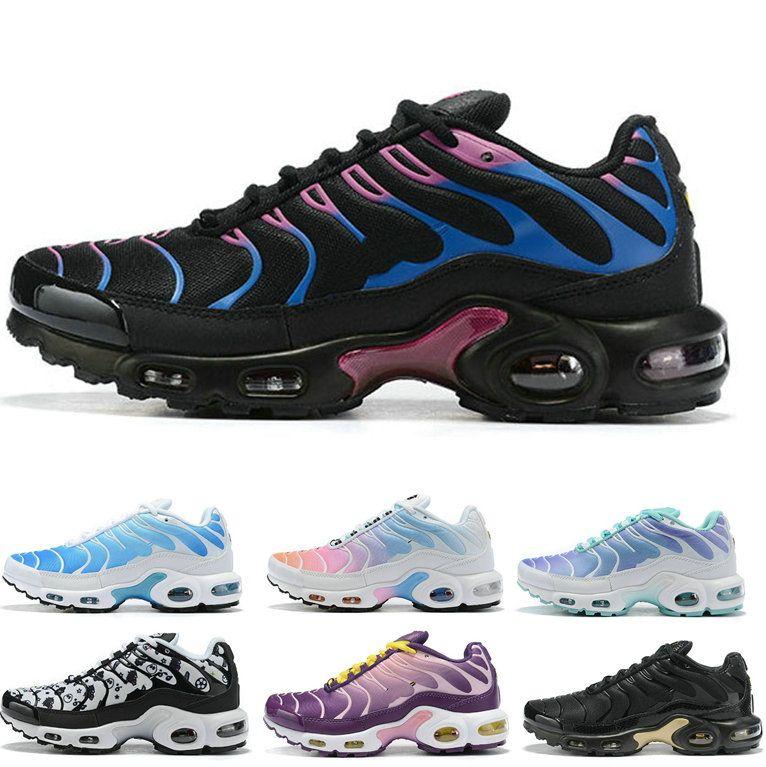 Compre 2019 Nike Air Max Tn Nueva Llegada Tn Mujer Hombre Zapatos Para  Correr Malla Transpirable Chaussures Homme Tns Womens Trainers Zapatillas  De ...