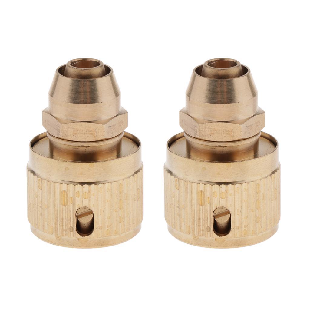 2 PCS 3/8 \ '\' Outdoor Garden Tap Autowaschschlauch Schnellkupplung Messing Adapter
