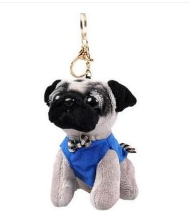 Free shipping Cute dog plush toy christmas Mini dog keychain charms