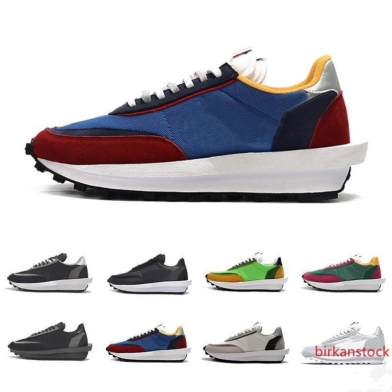 Nueva llegada SACAI LDV X de la galleta del alba Formadores para hombre de los zapatos corrientes Verde Gusto pino verde Lobo gris para las mujeres los hombres al aire libre zapatillas deportivas