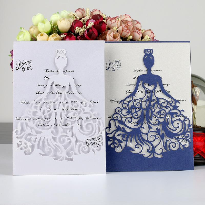 Laser Cut Lace White Wedding Card Wedding Invitations Elegant Wedding Invitations Cards Birthday Business Party Invitations Cards Samples Animated
