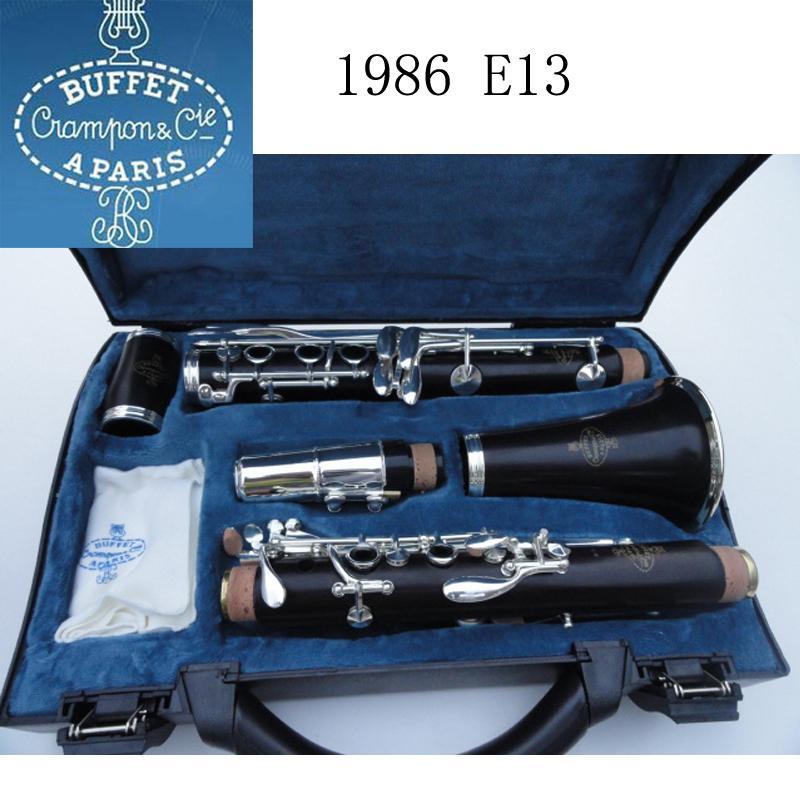 Case Büfe krampon Cie APARIS E13 Bb Klarnet Ağızlık Case Yüksek Kaliteli Sandal Ağacı Abanoz Tüp 17 anahtar Klarnet Enstrüman