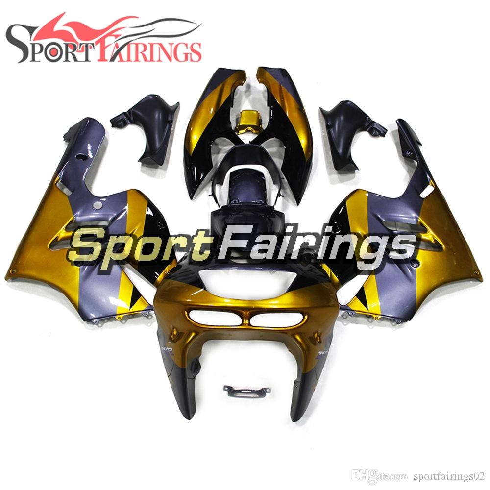 Complete Fairings For Kawasaki ZX9R 1994 1995 1996 1997 ABS Plastic Motorcycle Bodywork Body Kit Cowlings Panels New Frames Gold Purple