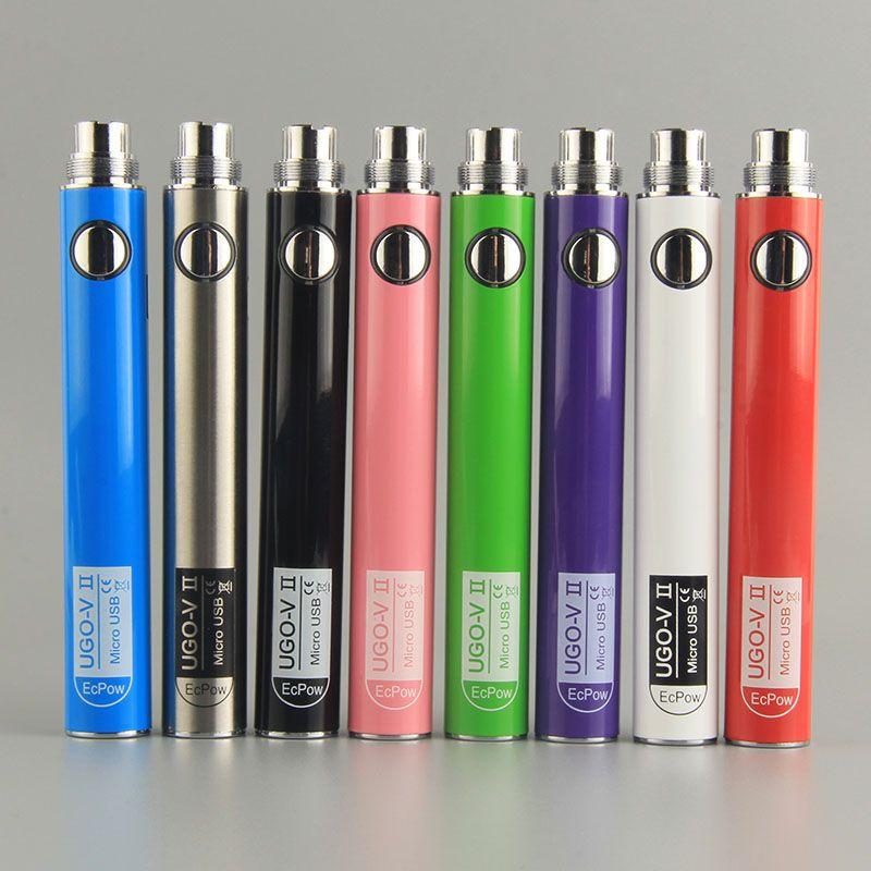 UGO-VII Olmayan Ayarlanabilir Elektronik Sigara Pil Vape Kalem Piller 650 mah 900 mah 510 E Sigaralar Için Iplik Kartuş Pil UGOB02