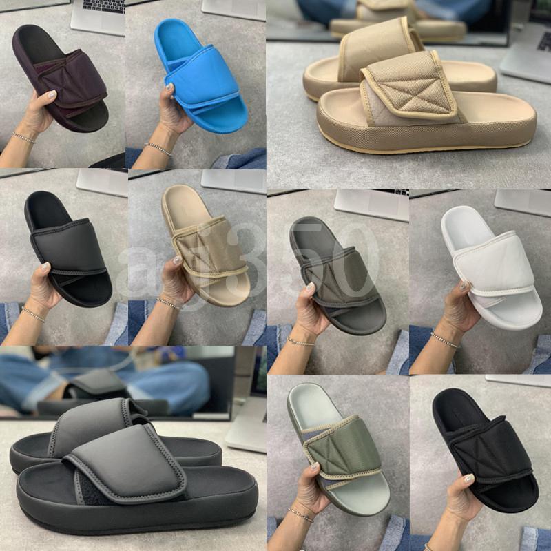 2020 Kanye Stagione 6 diapositive superiore di modo occidentale Estate Uomo Donna Stagione 7 Black ricamo esterna impermeabile pantofole Dimensioni 36-4624ae #