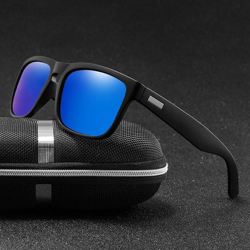 Brand Design поляризованные очки Классический Покрытие Мужской Площадь Sunglass Мужчины вождения солнцезащитные очки UV400 Оттенки Gafas De Sol tDMHl